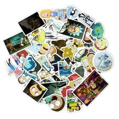 Rick and Morty Waterproof 49 Pieces Funny Stickers