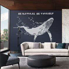 Each Whale Wall Decal is made of high quality, self-adhesive and waterproof vinyl. Our vinyl is rated to last 5 years outdoors and virtually forever indoors. Decals can be applied to any clean, smooth
