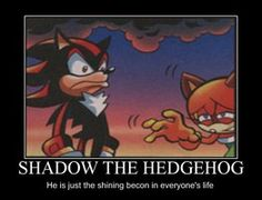 Look at Shadow's face! And Marine's! the shining beacon... in everyone's... ...lives...