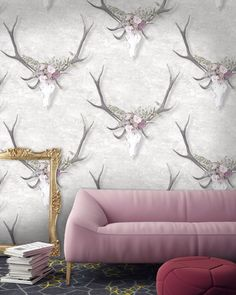 Designer Stag head wallpaper by Woodchip & Magnolia, £120.00