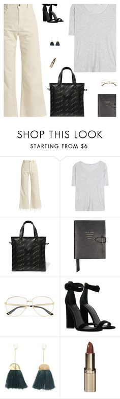 """Untitled #5228"" by amberelb ❤ liked on Polyvore featuring Rachel Comey, T By Alexander Wang, Balenciaga, Smythson, Gucci, Kendall + Kylie and L'Oréal Paris"