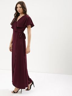 7919ef7124e Buy Women Femella Maroon Wrap Maxi Dress Online only for Grab Girl s Femella  Maroon Wrap Maxi Dress Online in India at best prices exclusively at KOOVS.
