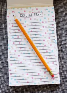 Personalized Confetti Notepad set of 2 by ShopCF on Etsy, $38.00