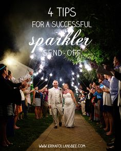 4 Tips for a Successful Wedding Sparklers Send-off | NH Wedding Photographer