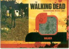 Season one Wardrobe Card from one of the walkers.