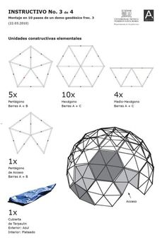 INVI Magazine - Post-earthquake geodesy: applied research on the . Dome Structure, Bamboo Structure, Dome Greenhouse, Greenhouse Plans, Cardboard Cat House, Cardboard Crafts, Woodworking Workshop, Woodworking Projects, Instruções Origami