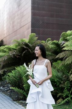 Chic wedding at the DeYoung Museum Harmon Tower  | planning: @lilyspruce  |  dress: loho bride