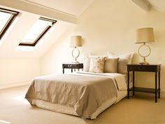 Roof Windows - Attic -   Shaded skylights are a necessity for turning an attic into a bedroom. Retract the shade to keep the room sunny and warm, then pull it down for those sleep-late mornings.