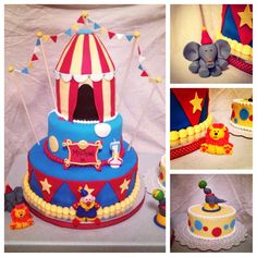 "Circus Themed Cake and ""Smash"" Cake"