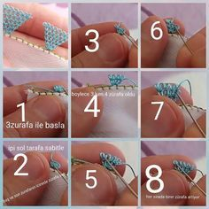 This Pin Was Discovered By Hül - Diy Crafts - Marecipe Needle Tatting, Tatting Lace, Needle Lace, Hand Embroidery Dress, Ribbon Embroidery, Crochet Flower Tutorial, Crochet Flowers, Diy Crafts How To Make, Lace Making
