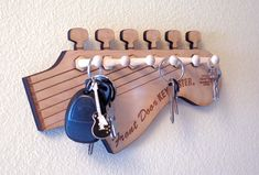 Guitar Keyholder, Guitar Shaped Key holder, Fender key holder, Stratocaster Key holder, Music Gift, Music Key holder, Guitar gift