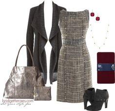 Love this classy tweed dress!