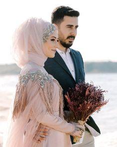 Hijab Wedding: Likes, 77 Comments - Ayşe Eryılmaz Butik ( . Hijabi Wedding, Muslim Wedding Dresses, Muslim Brides, Wedding Poses, Muslim Couples, Wedding Couples, Bridal Dresses, Bridal Hijab, Hijab Bride