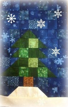 May Block of the Month Fir Tree - via @Craftsy