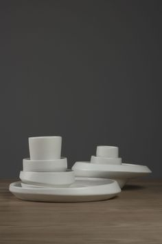 ett la benn - parts - asymetric ceramic tableware - maxwell williams