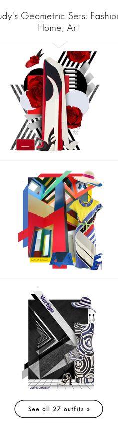 """Judy's Geometric Sets: Fashion, Home, Art"" by judymjohnson ❤ liked on Polyvore featuring Naeem Khan, Rosie Olivia, Manolo Blahnik, Leonard, STELLA McCARTNEY, Georgina Skalidi, Eugenia Kim, Avril 8790, karineg and jbeb"