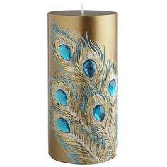 Peacock Feather Gem Pillar