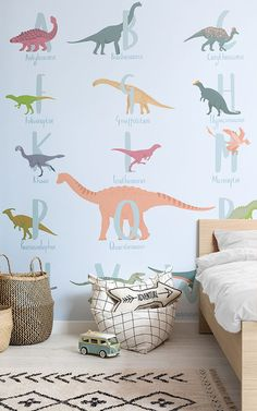 Kids Bedroom Decor Kids Bedroom Decor Get Up Close And Personal With The Dinosaurs Of Ancient Time And Create A Fun Educational Kids Bedroom Decor View The Dinosaur Wallpapers Here Cool Kids Dinosaur Bedroom Decor Boys Dinosaur Bedroom, Dinosaur Room Decor, Kids Bedroom Boys, Boy Toddler Bedroom, Cool Kids Bedrooms, Boys Bedroom Decor, Bedroom Themes, Boy Room, Dinosaur Kids Room