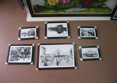 Bộ khung tranh đen trắng phong cảnh Hà Nội xưa