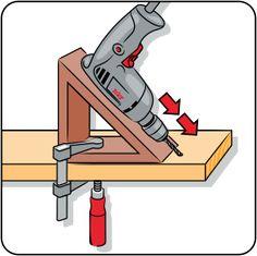 Drilling at an angle