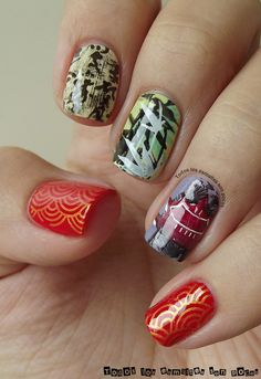 Chinese ancient style stamping nails.