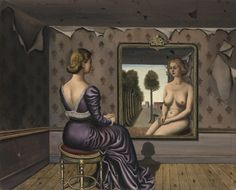 Paul Delvaux The mirror 1936