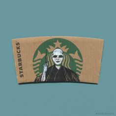 Artist Turns Starbucks Mermaid Into Pop Culture Characters - Gallery Starbucks Cup Art, Starbucks Logo, Starbucks Coffee, Starbucks Memes, Starbucks Drinks, Theme Harry Potter, Harry Potter Love, Coffee Cup Art, Coffee Coffee