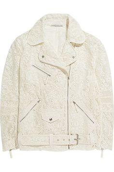 Alessandra Rich lace biker jacket