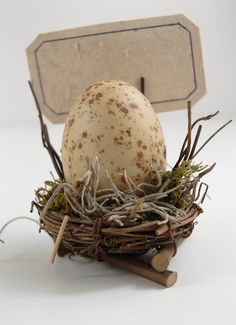 Bird Nest Place Card Holder the egg is symbol of fertility and this is adorable and neutral in design