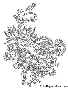 Paisley Coloring Page 3