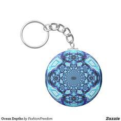 Ocean Depths Basic Round Button Keychain