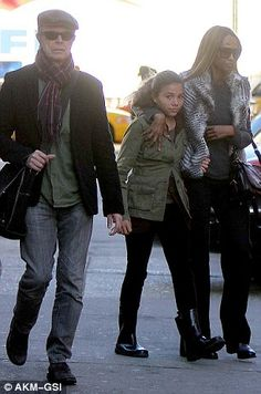 David Bowie in New York with his daughter Lexi, and wife Iman; the family went on a secret trip to London in 2014, around the time the star was diagnosed with cancer