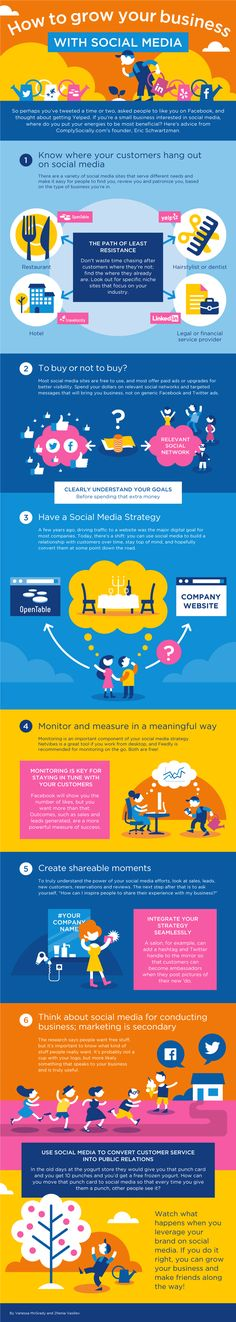 How To Grow Your Business With Social Media [Infographic]