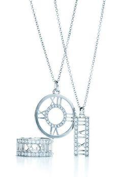 dfa85e60b Atlas Diamond Ring in 18k white gold; the Atlas Diamond Open Circle Pendant  in 18k