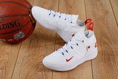 new product e7b9f 19aca Clever Nike Zoom KD 11 EP White Red Men s Basketball Shoes Kevin Durant  Sneakers Kevin Durant