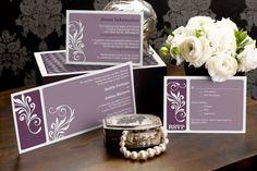Alluring Affection - Tea-length Wedding Invitation by MagnetStreet