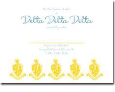 Delta Delta Delta Bid Day Cards
