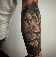 - My list of best tattoo models Lion Forearm Tattoos, Leo Tattoos, Future Tattoos, Animal Tattoos, Black Tattoos, Body Art Tattoos, Tattoos For Guys, Tattos, Tattoo Now