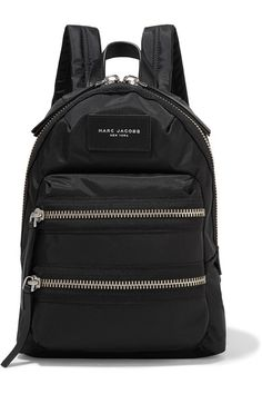 Marc Jacobs - Biker Mini Leather-trimmed Shell Backpack - Black