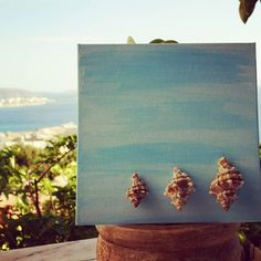 Art with a view...🌅 #decor#decoration #walldecor #summerdecor #seafindings #seatreasures #crafts #crafting #crafter #handmade #crafty #canvas #canvasart #acrylicpainting #beachcombing #seashells #shells #onlyemptyshells #summer #summervibes #summerinspiration #sea #outdoorsdecor #shell #inspiration #doityourself #diy #EviG_Crafted