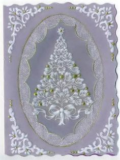 Parchment Craft ~ Pergamano on Vellum Crafts, Parchment Design, Parchment Cards, Christmas Templates, Silk Ribbon Embroidery, Card Patterns, Paper Cards, Homemade Cards, Paper Flowers