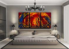 Guitar Music Art by Artist Nandita Albright Music Painting, Contemporary Art, Abstract Art, Guitar, Artist, Furniture, Home Decor, Decoration Home, Room Decor