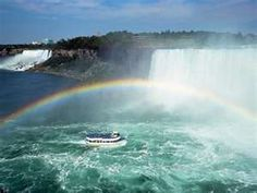 Niagra Falls. Maid of the Mist is much tamer than Iguazu Falls where they drive you right into the falls!