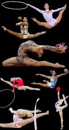 2012 Rhythmic Gymnastics: all of these girls are incredible.
