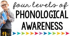 Phonological awareness is a process that all successful readers go through. In the simplest terms, it is the understanding that sentences are made of words, words are made of syllables, and syllables are made of phonemes. Phonological awareness is a broad Reading Lessons, Reading Strategies, Reading Skills, Reading Resources, Reading Activities, Teacher Resources, Preschool Activities, Word Work Activities, Language Activities