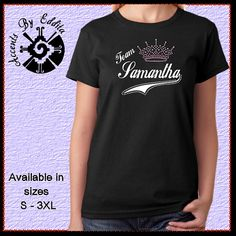 Rhinestone Princess Tiara TEAM Pageant T Shirt by AccentsByEddita2, $27.99