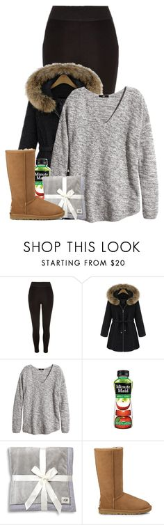 """Untitled #422"" by pinkkid ❤ liked on Polyvore featuring River Island, H&M and UGG"
