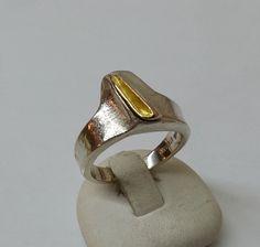 Designerring+925er+Silberring+Goldring+17+mm+SR411+von+Atelier+Regina++auf+DaWanda.com