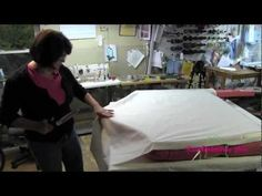 Upholstery How To Tuft A Headboard - YouTube