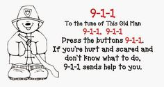 Fire Safety 911 Posters and Song #ClassroomFreebies